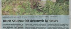 Article du Maine Libre sur le Jardin du vivnat du 12 Juin 2017